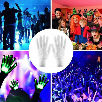 BESTTY LED Party Light Show Skeleton Halloween Lightshow Dancing Gloves Party US