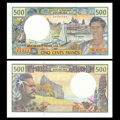 French Pacific Territories 500 Francs, ND(1992), P-1h, UNC