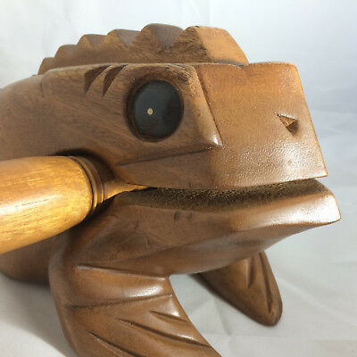 Large Wooden Frog Guiro Fair Trade Enormous Great sound Quality instrument