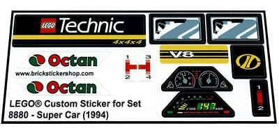 Lego® Custom Pre-Cut Sticker for Technic set 8880 - Super Car (1994)