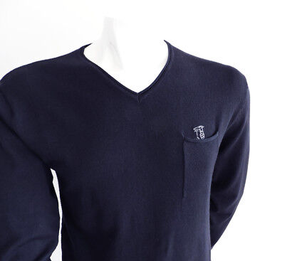 Maglia uomo TRUSSARDI ACTION scollo a V taschino BLUE NAVY Cod 2AM01 - ORIGINALI