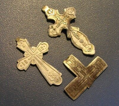 Ancient Crosses SILVER PERIOD ROYAL RUSSIA.* 84 test of silver* ORIGINAL.