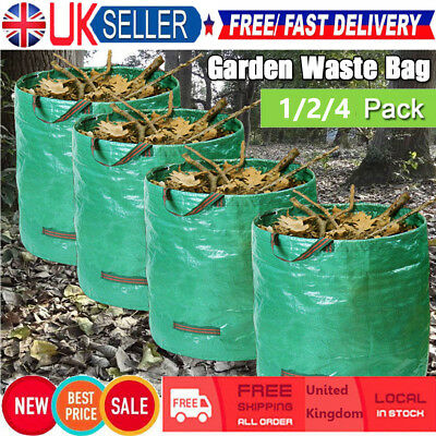270L Large Garden Waste Bag Strong Rubbish Sack Waterproof Heavy Duty Reusable Y