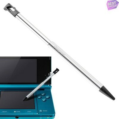 For Nintendo 3DS Retractable Metal Touch Screen Stylus Pen Black