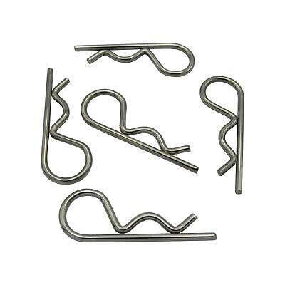 x5 2.5MM X 58MM Stainless Steel R Clips - Spring Retaining Grip Hitch Lynch Cott