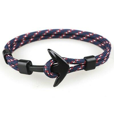 Anchor Bracelets Men Charm 550 Survival Rope Chain Paracord Bracelet Male