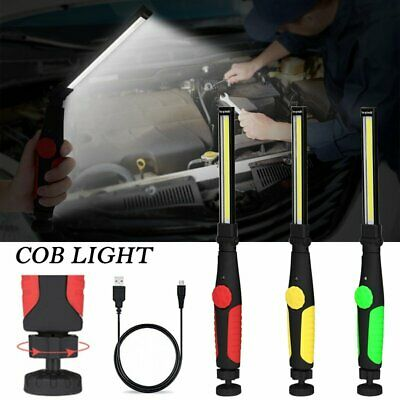 Magnetic COB LED Work Light USB Rechargeable Hand Torch Inspection Lamp Light UK