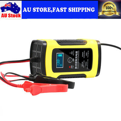 Universal 12V 6A Car Battery Lead Acid Charger Automobile Motorcycle For Car SUV