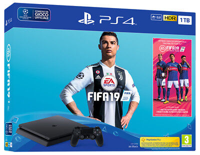 Playstation 4 PS4 1TB Chassis F Console + FIFA 19 Bundle IT IMPORT