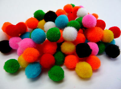 Pom Poms Assorted Colours 7mm 9g (approx 250 pieces)