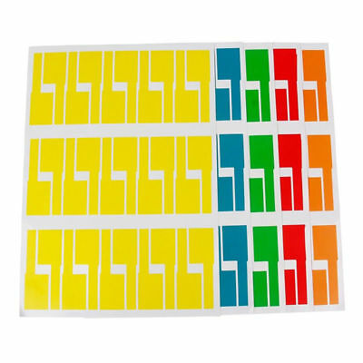 1ca6c4ea4b93 300pcs 10 Sheets Self-adhesive Cable Labels Identification Markers Tags  Sticker