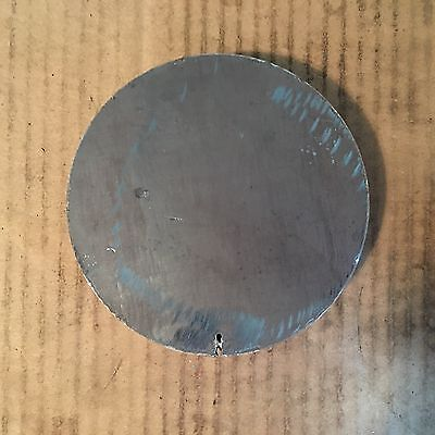 (1)pc 1 INCH X 5 INCH ROUND/DISC METAL CIRCLE PLATE