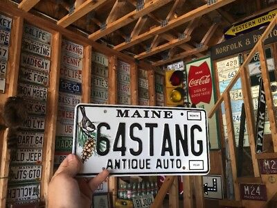 Maine Vanity License Plate 64 Stang Antique Auto Chickadee 1964 Mustang