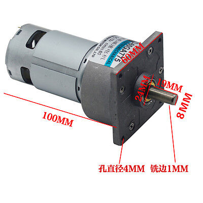 60GA775 Micro DC Geared Motor DC12V/24V 35W Large Torque Adjustable Speed Motor