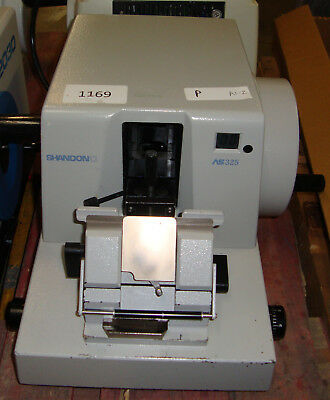 Shandon AS325 AS 325 Rotary Retraction Microtome AS-325 w/ knife