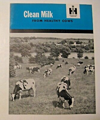 Antique 1929 International Harvester Clean Milk From Healthy Cows Catalog