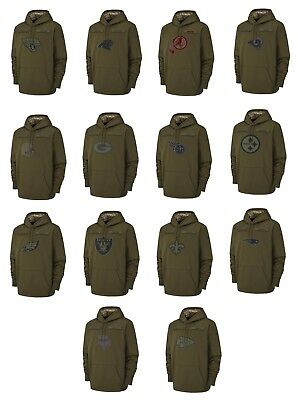 Mens NFL 2018 Salute to Service Pullover KO Hoodie (Several Teams and Sizes)