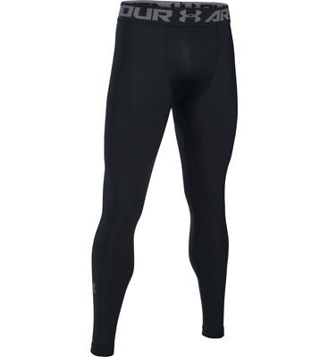 NWT - UNDER ARMOUR 'HEATGEAR ARMOUR 2.0 LEGGINGS 1289577-100' Black - 2XL