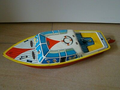 Blechspielzeug Boot Schiff Michael Seidel MS Seidel MS Toys Tintoy Tole Germany