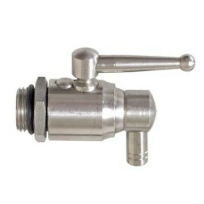"""Stainless Ball Valve for Fusti Tanks - 1/2"""" BSPP Thread Wine Olive Oil Drum Can"""