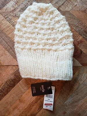 Norla Canada IVORY Knit Winter Knitted Beanie Hat Handmade One Size New  with tag bba9a3961f06