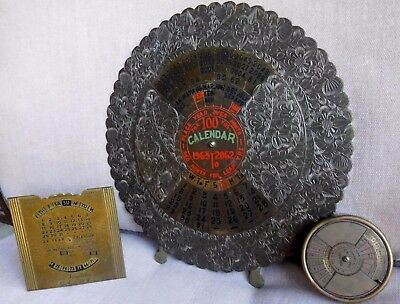 Perpetual Calendars (3) 100 Year 50 Year 28 Years One Is A Paperweight
