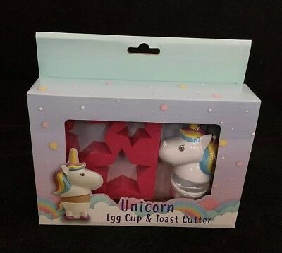 Unicorn Egg Cup & Toast Cutter - Breakfast - Kitchen - Magical Novelty Gift