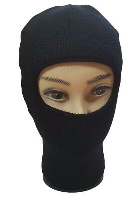 Men's Women's One Hole Winter Warm Beanie Ski Face Mask Neck Hat Balaclava Black