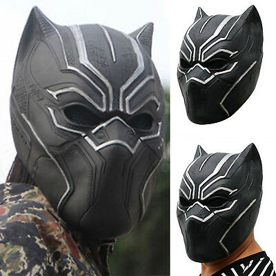 Marvel Avengers Infinity War Black Panther Maske Cosplay Kostüm Karneval Party A