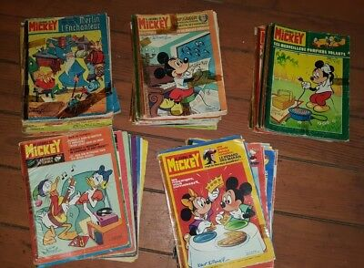 LOT DE 50 JOURNAL DE MICKEY DU N° 1240  à 1289  ANNEE 1976-1977