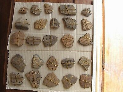 Collection Of Wonderful Decorated Sherds Neolithic Stone Age C Europe
