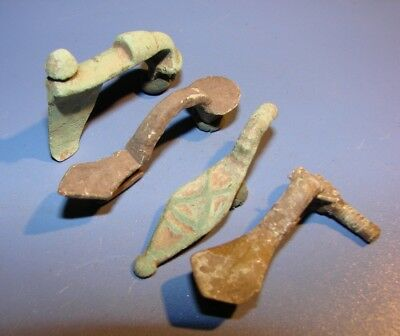Ancient Fibules. Bronze. Rare. Original.