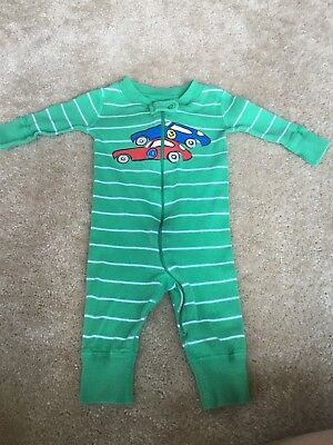 HANNA ANDERSSON BABY Boys Sleeper Pajamas Size 50 0-6 Months Spots ... d4389e216