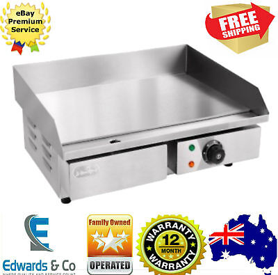 Electric Hot Plate Grill Griddle BBQ Commercial Stainless Steel Countertop 3000W