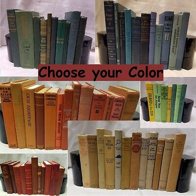 Old/Vintage/Antique/ Decorative, Decor, Staging HB Books Lot *CHOOSE YOUR COLOR*