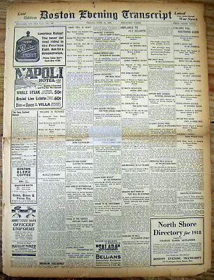 1918 newspaper Plan announced for1st airplane Fly non-stop across ATLANTIC OCEAN