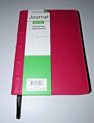 Hot Pink Soft Smooth Classic Planahead Ruled Case Bound Journal
