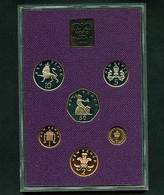 1980 Great Britain Proof 6 Coin Set With Medal