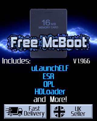 Free MCBoot 1.964 FMCB - Playstation 2 - 16MB Memory Card (ESR, HDL, OPL, MORE)