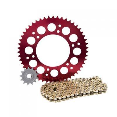 Primary Drive Alloy Kit & Gold X-Ring Chain Red Rear Sprocket HONDA CRF250R 2004