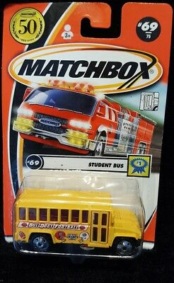 New Matchbox Student Bus #1 69/75 50 Years 2001 (M-2)