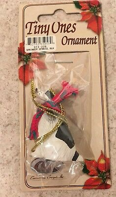 Springer Spaniel Ornament Black Mini Dog Tiny Ones by Conversation Concepts New