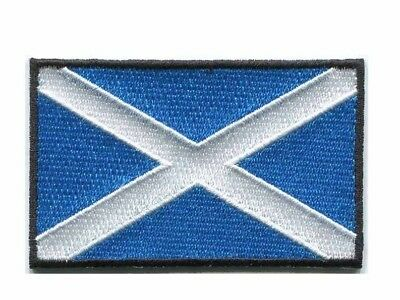 Flag of Scotland Iron On Patch 3 x 2 inch (medium)