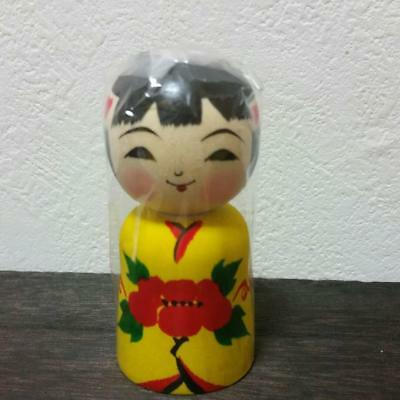 Kokeshi kimono girl Japanese traditional crafts retro cute vintage rare F / S!