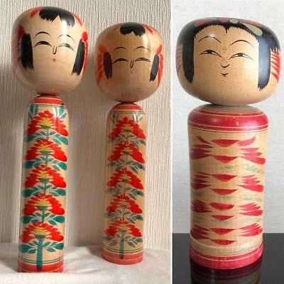 Kokeshi Japanese traditional crafts retro cute vintage rare popular 3 pcs F / S!