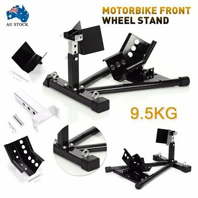 17''-21'' Black Motorcycle Motorbike Front Wheel Chock Holder Stand