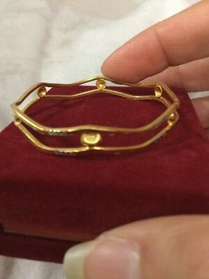 Rare Gorgeous Egyptian Stamped 21K Solid Yellow Gold Girls Bracelet !! Wow