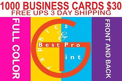 1000 Business Cards Free Shipping Free Designs Font and Back FULL COLOR