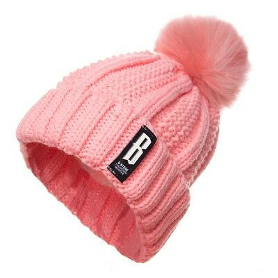 Pink Striped Pattern Winter Hat For Women Fashion Warm Hats Knitted Beanies Caps