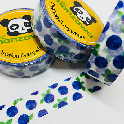 Washi Tape Blueberry 15Mm X 10Mtr Planner Scrap Craft Wrap Mail Art